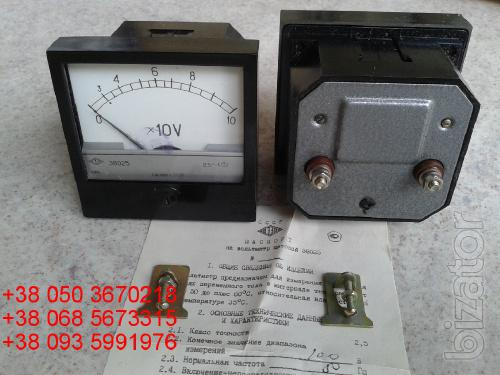 Sell warehouse panel voltmeters E8025 (e-8025, 8025 e) at 100V 120 pieces.