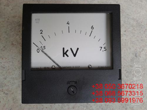 Sell warehouse panel voltmeters E365-1 at 7.5 kV (connection via t/n 6000/100)