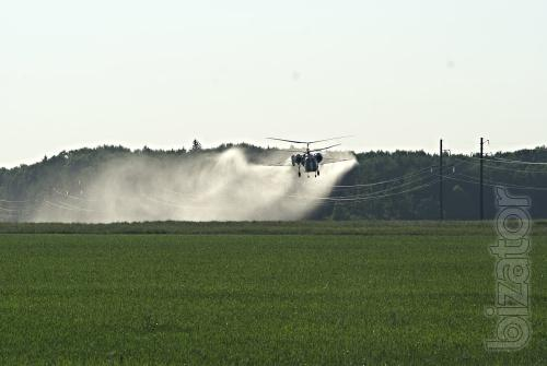 Herbicide helicopters and small aircraft