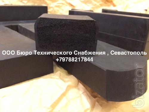 Rubber seal for hatch covers of holds h mm ( 70 x 30)