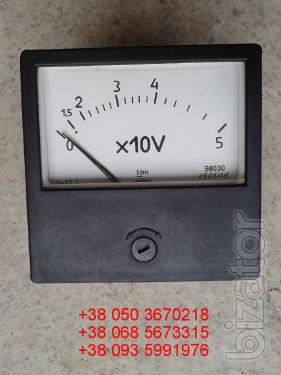 Sell from a warehouse voltmeters panel meters E8030 (e-8030, 8030 e) at 50V.