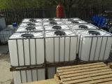 Containers ( Tanks, Cuba ) 1000L p/e on a pallet in a crate.