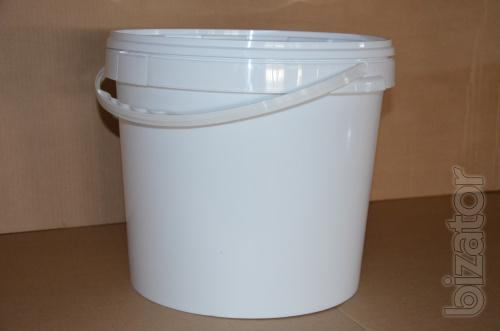Plastic bucket 20L white. 41 UAH