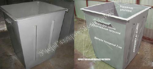 Dumpsters and garbage cans, manufacture and delivery to Ukraine
