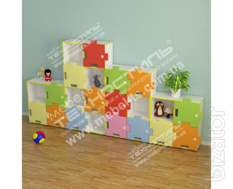 "Wall children for toys ""Puzzles"""