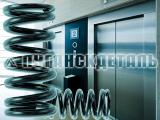 Spring lift, door, counterweight, buffers