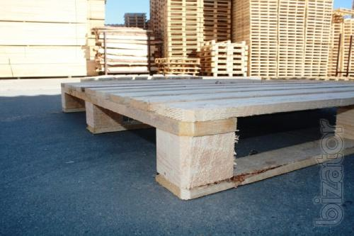 Boxes Containers Pallets in stock and for the order, wholesale and retail.