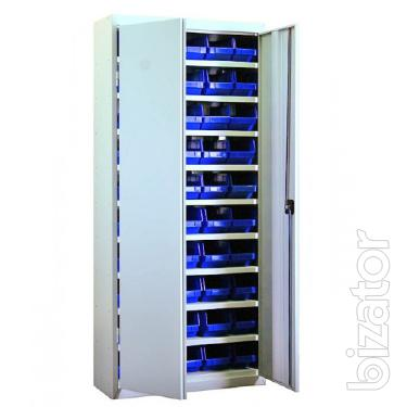 Cabinet for tools and fasteners with plastic drawers, Kharkov