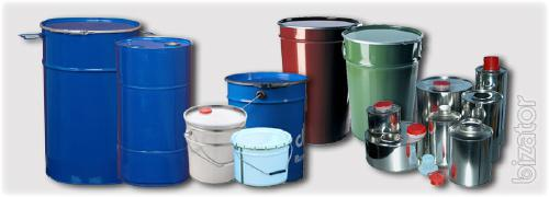 Plastic and metal containers