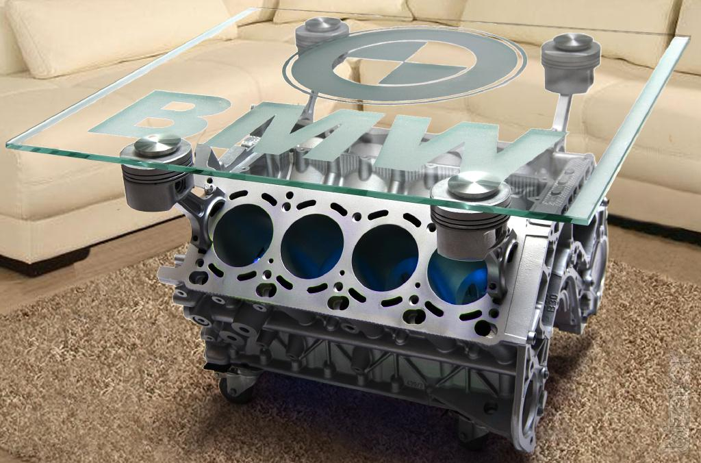 Coffee Table Out Of The Engine Bmw V8 Free Shipping