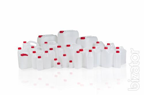 Plastic canisters, bottles, flacon