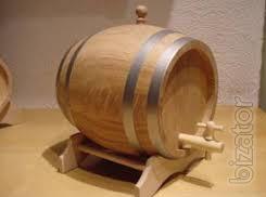 Oak barrels for wine and pickles, tubs