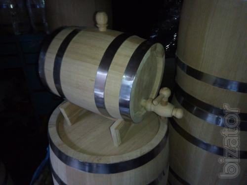 Oak barrels, barrels for wine, casks of brandy, tubs for pickling