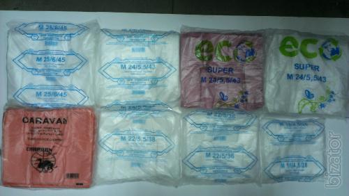"Polyethylene packets ""t-shirt"""