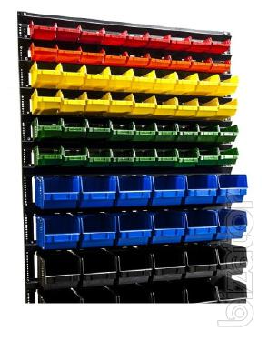 Shelving and plastic boxes for garage and warehouse of fixture,Mings,hardware