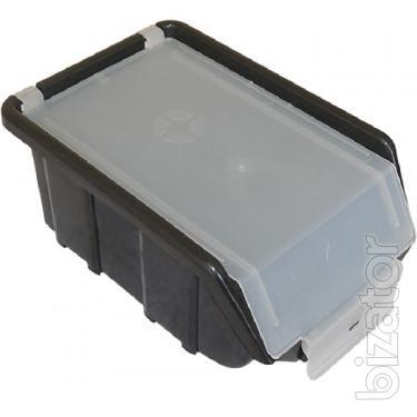 Plastic sundries box with lid 175 x 110 x 75 tists