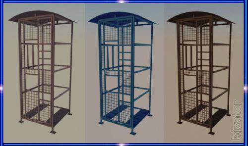 Vandal proof Cabinet, enclosure, cage, grille, box, box, pencil box, a frame, a thermal box for Vadimovich machines, refrigerators and coffee machines