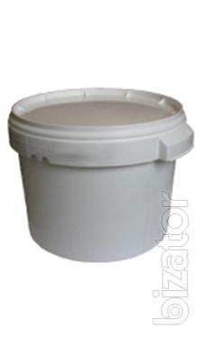 The plastic food bucket with lid and seal from the opening of 0,5 l, 1l, 3l,5L,10l,20L, 33л