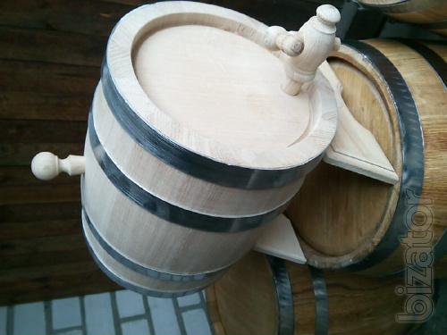 Oak barrels, jugs, tubs