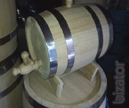 Oak barrels for aging alcohol, tubs