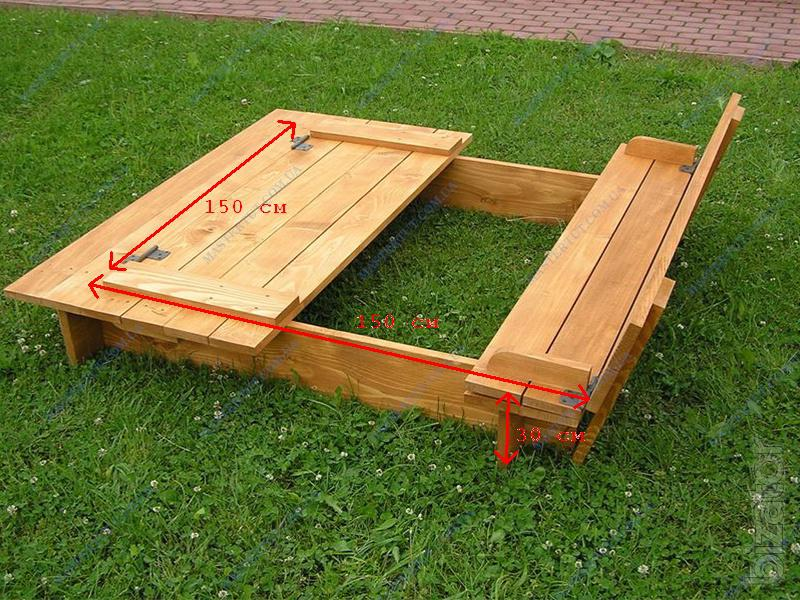 selling cheap children 39 s wooden sandbox with lid buy on. Black Bedroom Furniture Sets. Home Design Ideas