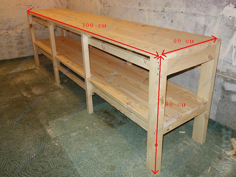 Delightful ... Will Sell Cheap Wooden Table Workbench, Work Table For Garage Or  Workshop