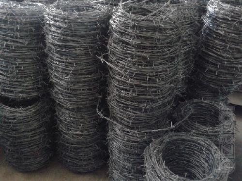 Steel wire welding galvanized barbed knitting