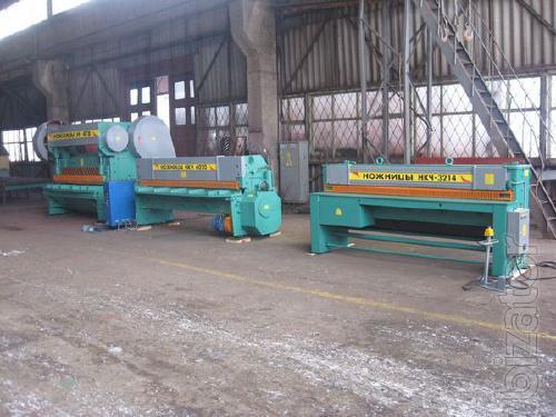 Guillotine shears 16х2200 model H-478 production Chernihiv mekhzavod