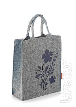 Women's tote bag with flower