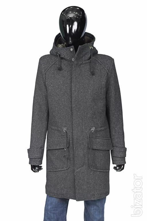 Мужское пальто зима с капюшоном