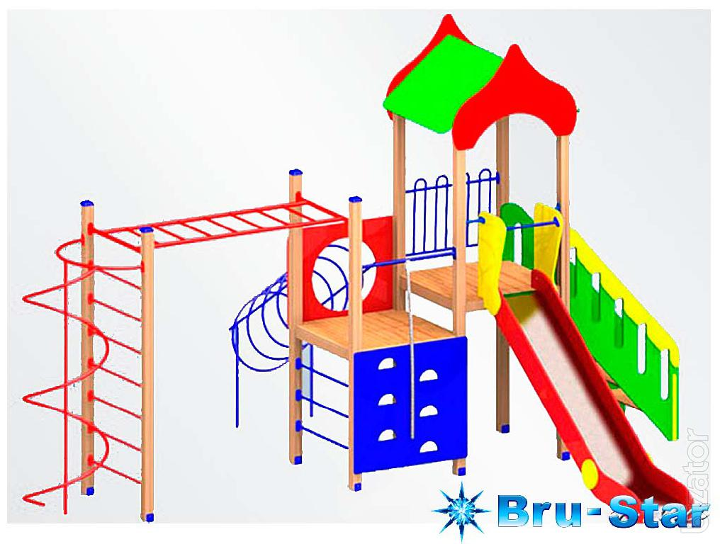 Children's playgrounds, complexes, swing karuseli