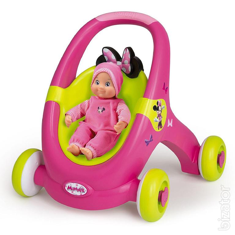 Walker Stroller For Dolls Smoby Minnie Mouse 160180 Buy