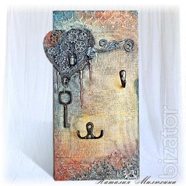 The Housekeeper Open Wall Key Hanger Decor Key Holder