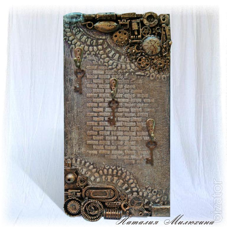 The housekeeper open wall key hanger decor key holder for Mural key holder
