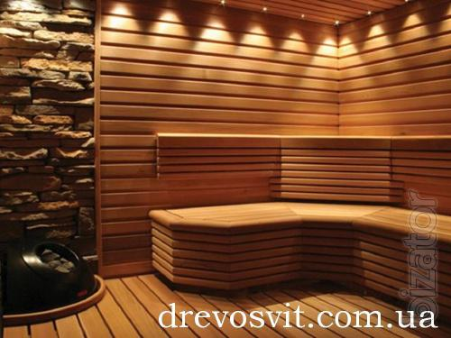 Bed for baths, saunas alder.