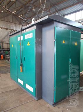 Complete transformer substations