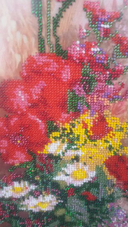 Picture beaded embroidery quot flowers buy on ator