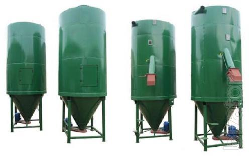A hopper for storage of grain raw materials