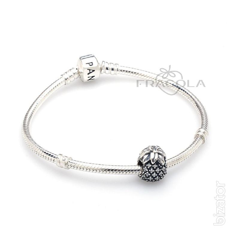 Pandora Jewelry Free Shipping: Silver Pineapple With Zirconiade