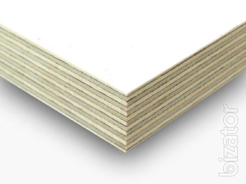 Laminated exterior plywood white color 6.5 mm, 9.5 mm, 18 mm, 21 mm.