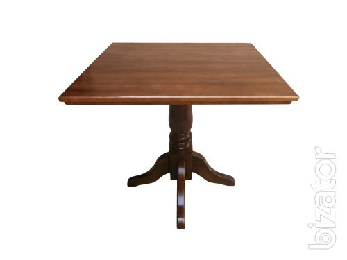 Wooden Table On One Leg Square Or Round For Home, Restaurant, Cafe, Pub