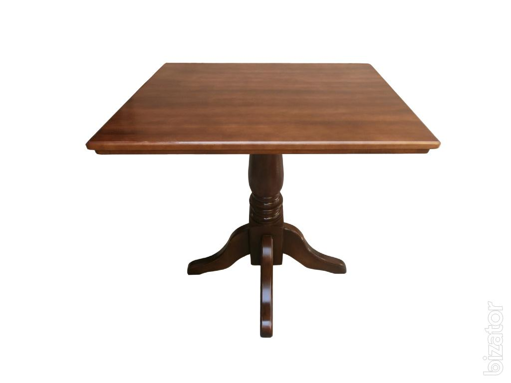 Wooden table on one leg square or round for home restaurant cafe wooden table on one leg square or round for home restaurant cafe watchthetrailerfo