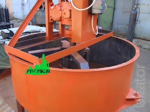 Forced concrete mixer for mixing concrete and mortar at 500 l
