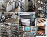 Flexo printing machine six-color tiered stack