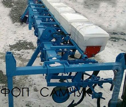 Inter-row cultivator with a device for fertilizer.