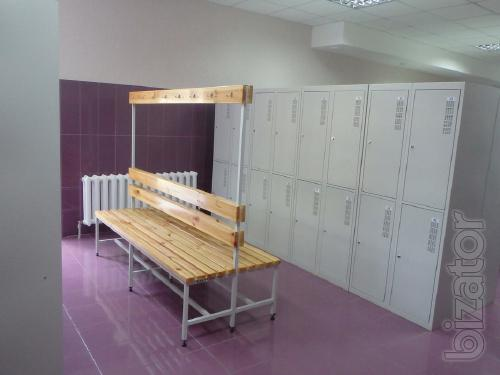 Bench for changing rooms double sided buy on bizator