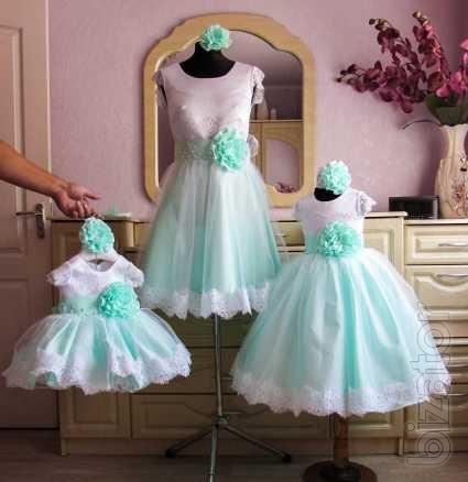 Сшит нарядное платье дочке