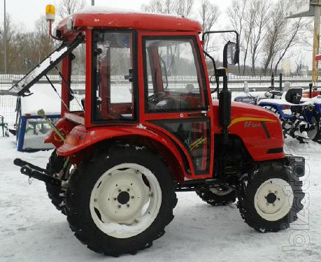 Mini tractor Dongfeng-244C (Dongfeng-244C) with cab red