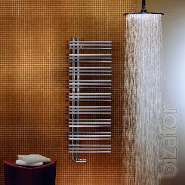 Designer heated towel rail Zehnder Yucca Asym