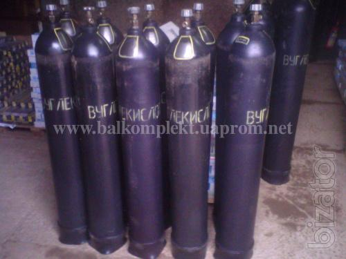 carbon dioxide cylinders 10, 40 liters (documents on the day of shipment)